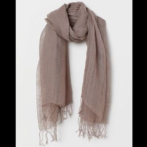 H&M Linen Scarf NWT